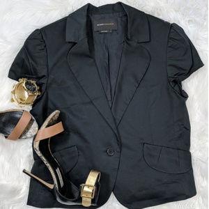 BCBG Black One-Button Blazer